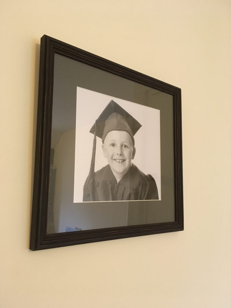 School Graduation Photograph Framed by Telford Picture Framer