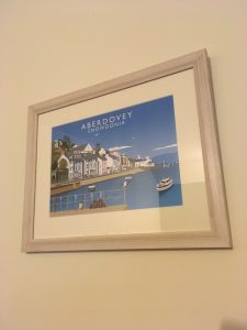 A Simple White Shabby Chic Frame to show a beautiful Print of Aberdovey