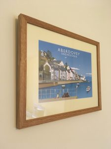 Framing of an Aberdovey Print in Oak by Telford Picture Framer
