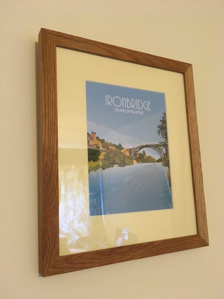 Ironbridge Print Framed in Oak by Telford Picture Framer