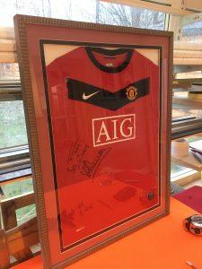 Framing Football Shirts at Telford Picture Framer