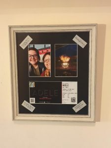 Concert Tickets and Photographs Framed by Telford Picture Framer