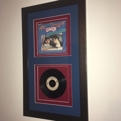 A Classic Vinyl Single Framed with a Double Mount Surround by Telford Picture Framer