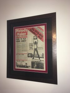 Framed Music Newspaper from 1978