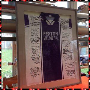 Framed Football Shirt as a memorial keepsake